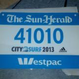 Bib for the Blue Group of the City2Surf