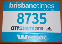2013 Blue Group City2South Bib