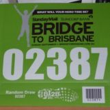 10km Green Wave bib for the 2013 Bridge2Brisbane