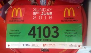 Unlike the last couple of years, I have kept the race bib from the closest run to a local event I'll get, the Rocky River Run.