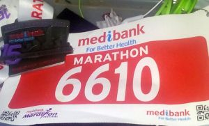 Last year's bib and medal, perhaps some motivation for this year?